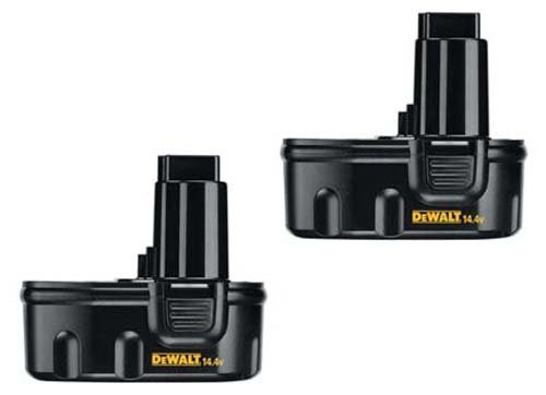 Factory Reconditioned Dewalt DW9094 14.4V 1.3ah NiCd Battery - 2 Pack