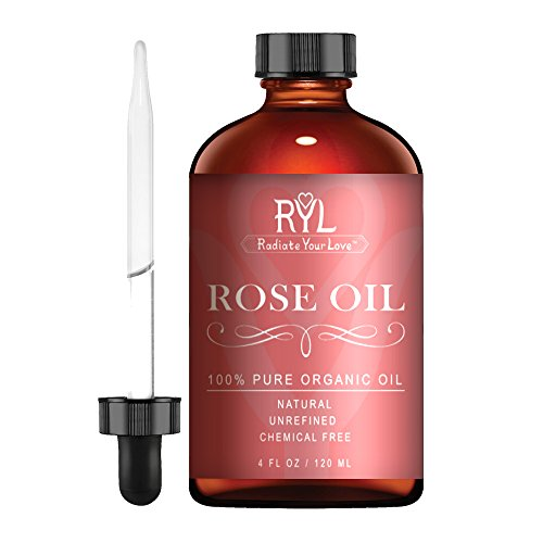Radiate Your Love Rose Essential Oil, 4 Fluid Oz - 100% Pure Therapeutic Grade Essential Oils Perfect for Aromatherapy, Relaxation, Skin Therapy & Oil Diffusers