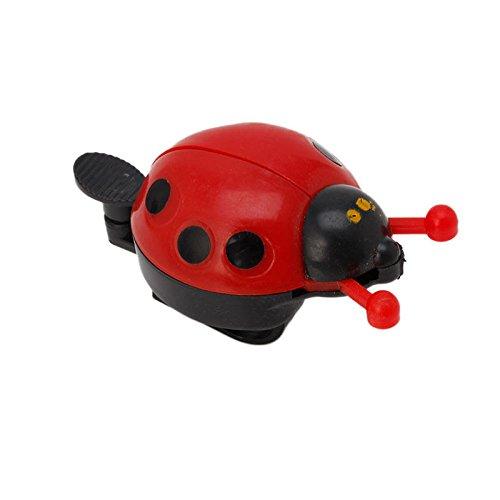 Stebcece Kid Children Ladybug Bike Bicycle Cycling Handlebar Ring Sound Bell Horn Alarm (red)