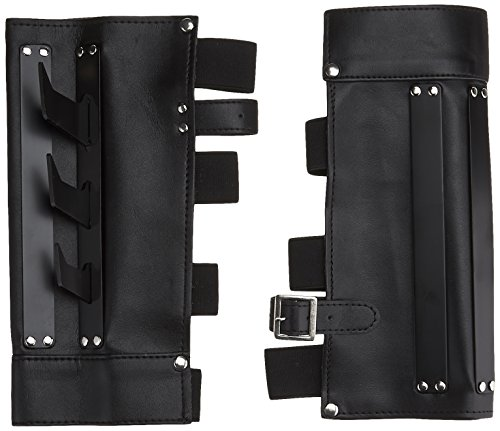 BladesUSA YC-709 Martial Arts Arm Cuff with Metal Spikes, Black, 9-1/2-Inch - Costume Ninja Blade