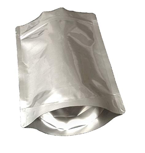 Pleasant Grove Farm 7 Mil Zip Lock Mylar Bags Stand Up Pouch Gusseted Pouch in Multiple Sizes (50, 1 PINT 5 x 8 inch)