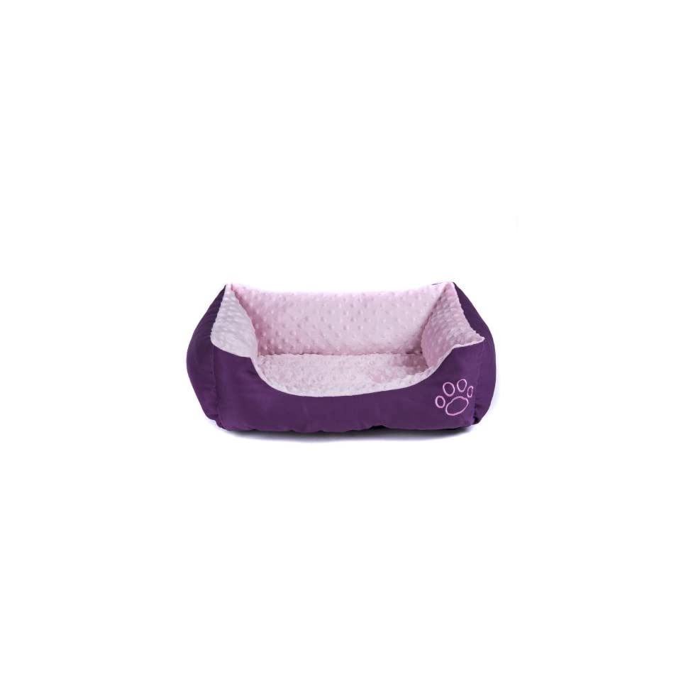 Colorfulhouse European Style Massage Sofa Pet Bed Paw Print Dog Bed, 16x22 Inches (Purple)
