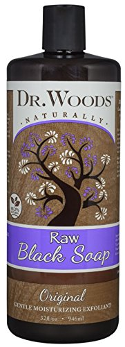 Dr. Woods Natural Raw African Black Moisturizing Liquid Castile Soap, 32 Ounce (32 Ounce Moisturizing Bath)