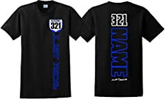 """""""JUST RIDE MOTOCROSS NUMBER PLATE T-SHIRT""""-BLUE, RED OR BLACK 6.1oz 100% ULTRA COTTON SHIRT - JUST RIDE & PLATE IN CHOICE OF COLOR ON FRONT WITH """"YOUR NAME/NUMBER"""" ON IT AND ON BACK - AVAILABLE IN SIZE S-M-L-XL-XXL-3XL-4XL If purchasing a..."""