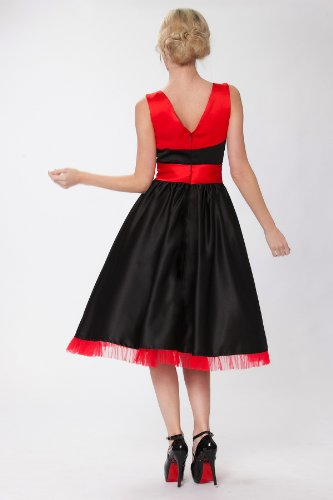 SEXYHER Jahrgang 1950 Stil Ausgestelltes Kleid RBJ1410 BiColor jutjP ...