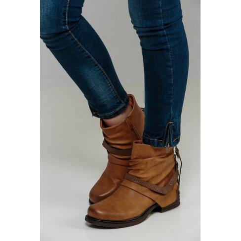 Botines, color camel, Marrón (marrón), 36 EU: Amazon.es: Zapatos y complementos