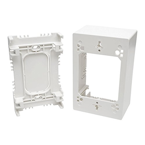 Tripp Lite Single-Gang Surface-Mount Junction Box, Wallplate, White (N080-SMB1-WH)