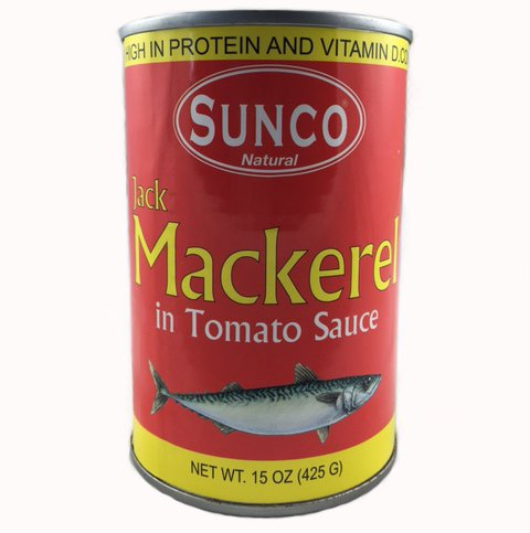 Jack Mackerel in Tomato Sauce 15oz Cans (Pack of