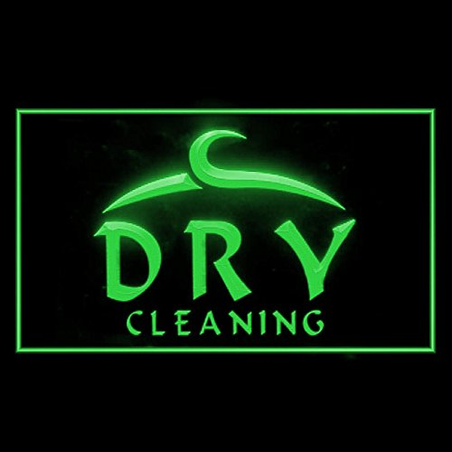 OPEN Dry Cleaning Laundromat Independent Cleanest Advance LED Light Sign 190023 Color Green