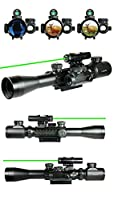 Combo 3-9x40mm Clarity+ Tactical Illuminated Rifle Scope with GREEN Laser