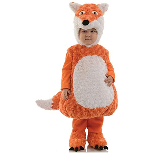 Underwraps Toddler's Fox Belly Babies Costume, Orange/White, Large -