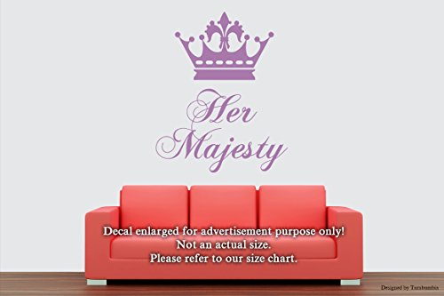 Wall Decals Her Majesty Vinyl Stickers Decorative Design Ideas For Your Home or Office Walls Removable Vinyl Murals EC-0462