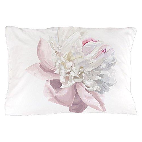CafePress - Elegant White Peony - Standard Size Pillow Case, 20