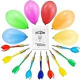 Toys : LovesTown Carnival Games Darts Balloons, 500Pcs Circus Decorations Christmas Balloons Water Balloons with 10Pcs Darts for Carnival Party Supplies
