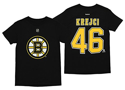 Outerstuff NHL Youth Boys Boston Bruins David Krejci #46 Player's Tee, Black Large (14-16)
