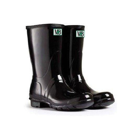 3 Safety Boots - Moneysworth & Best Kid's Rubber Rain Welly Boots, 3, Black