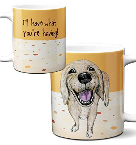 Golden Labrador Retriever Mug by Pithitude - One Single 11oz. White Coffee Cup ()