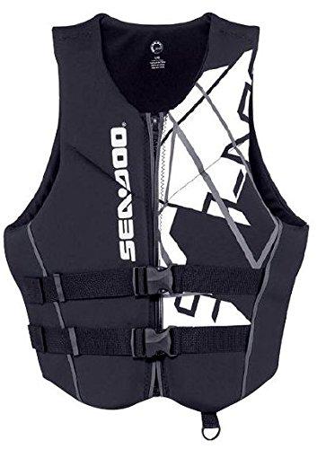 BRP Sea-Doo Men's Neoprene Freedom PFD Life Jacket Vest (XX-Large, Black) by Sea-Doo