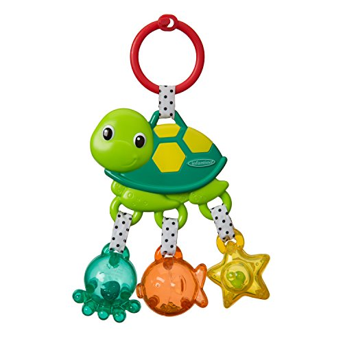 Infantino Jingle Sea Charms Turtle Rattle