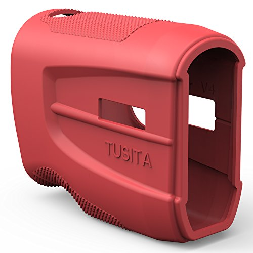 Silicon Silicone Case Skin Cover - TUSITA Protective Cover for Bushnell Tour V4 Slope Shift, Golf Laser Rangefinder Accessories Replacement Silicone Case Skin (Red)