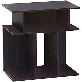 go2buy unique design wood accent side end table espresso 24 inch - Unique Side Tables