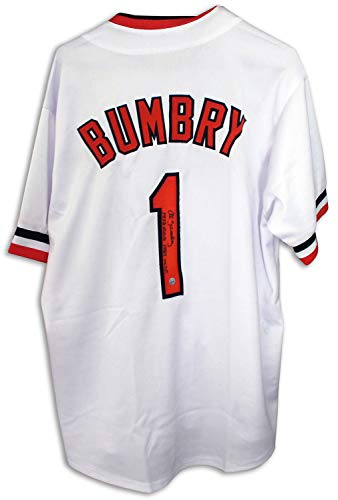 - Al Bumbry Baltimore Orioles Autographed White Jersey Inscribed 1973 ROY & 1983 WSC - Certified Authentic Signature