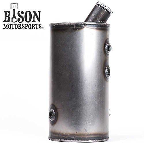 Custom 5'' Round Flat Side Oil Tank for Harley Sportsters, Bobbers or Choppers - Bison Motorsports by Bison Motorsports (Image #1)