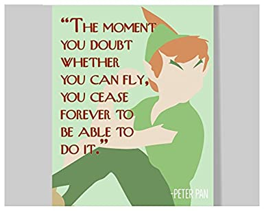 Growth Mindset Quotes | Amazon Com Peter Pan Quote Poster 16 X 20 Motivational
