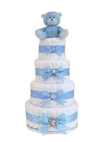 Firma bebé niños 4 Tier – tarta de pañales por Pitter Patter bebé regalos – este