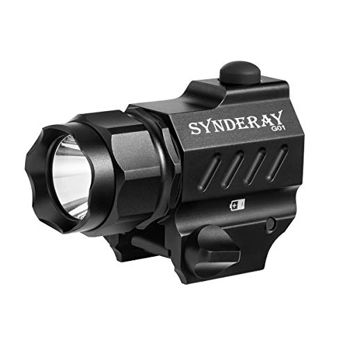 SyndeRay G01 CREE LED Tactical Gun Flashlight 2-Mode 230LM Pistol Handgun Torch Light for Hiking,Camping,Hunting and Other Indoor/Outdoor Activities