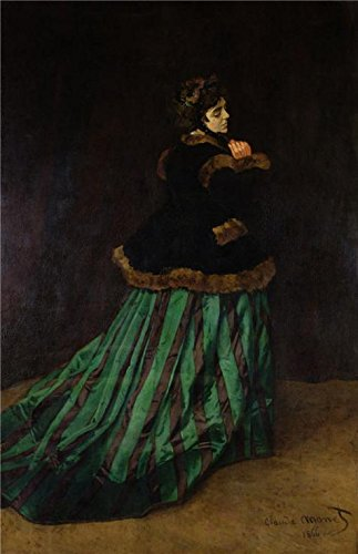 118 Costume 80s (Perfect Effect Canvas ,the Vivid Art Decorative Prints On Canvas Of Oil Painting 'The Woman With A Green Dress 1866 By Claude Monet', 30x46 Inch / 76x118 Cm Is Best For Home Theater Decor And Home Decor And Gifts)