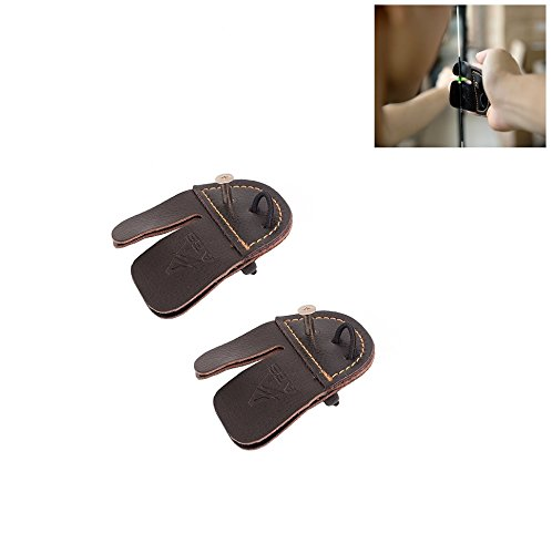 Cow Leather Archery Finger Tab for Hunting Bow Archery Finger Protector Set of 2