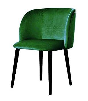 Belle Fierté Un par de sillas de Comedor de Terciopelo escandinavo contemporáneo - Verde Esmeralda: Amazon.es: Hogar