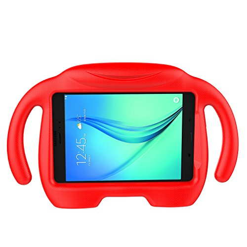 LEDNICEKER Samsung Galaxy Tab A 8.0 Kids Case - Light Weight Shock Proof Handle 3D Stand Kids Friendly Super Protection Cover Case for Samsung Galaxy Tab A 8-inch Tablet - Red
