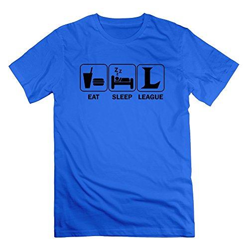 Price comparison product image FZLB Men's Eat Sleep League Of Legends T-Shirt Medium RoyalBlue