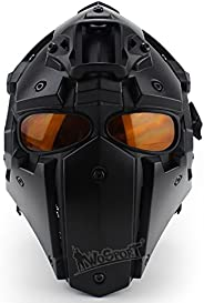 Tactical Airsoft Full Face Protection, Terminator Helmet with Mask Goggles. Used for Military Role-Playing Mov