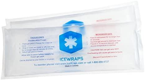IceWraps 2 Gel caliente o frío reutilizable paquetes 4 x 10 ...