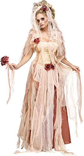 Fun World Women's Plus Size Ghostly Bride Adult Costume-X-Large, White, Extra]()