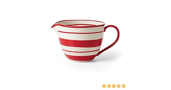 Lenox Holiday Handpaint Stripe Batter Bowl, 2.90 LB, Red & Green