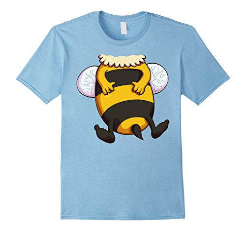 Bumble Bee Costume Ideas (Mens Bumblebee Costume T-Shirt for Halloween Bee Animal Cosplay XL Baby Blue)