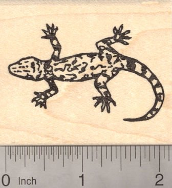 Gecko Lizard Rubber Stamp