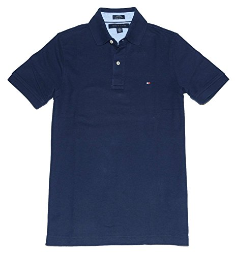 Tommy Hilfiger Classic Fit Men Polo T-shirt (M, Navy)