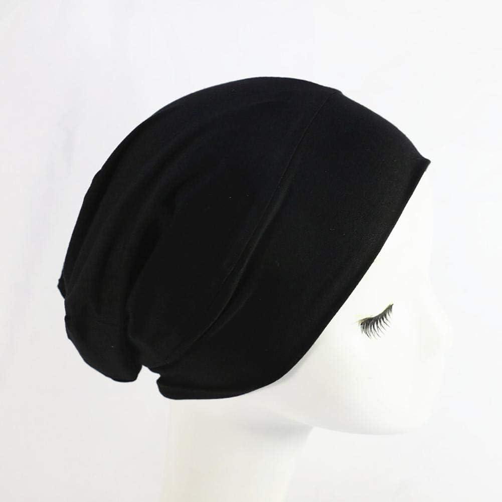 Suitable For Head Circumference: 54-62cm Wide Band Womens Sleep Cap Miju Womens Sleep Cap Satin Lined High Elastic Nightcap Ladies Hair Care Hat 26X25cm