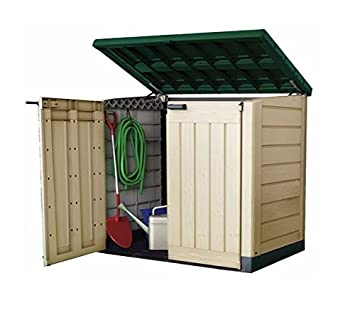 Keter Plastic Storage Unit Box Garden Shed Outdoor Sheds For Wheelie Bins  Tools Bikes Lawn Mowers