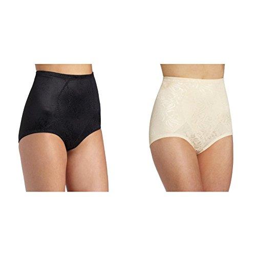 Maidenform Flexees Women's 2 Pack Shapewear Brief Firm Control, Black/Blush, XX-Large