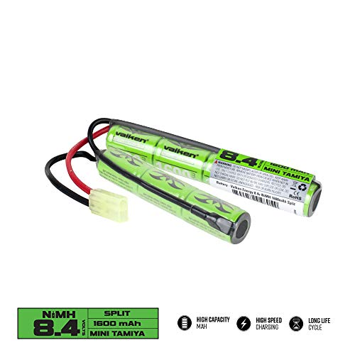 Batería Valken Airsoft - Estilo dividido NiMH 8.4v 1600mAh
