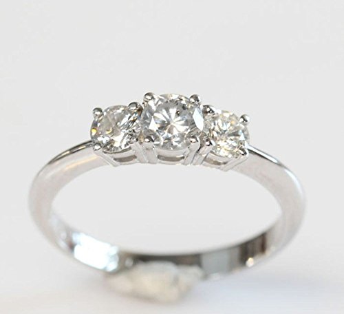 1/2 carat Diamond Ring, 14K White Diamond Ring, Engagement Ring, White Gold Ring,wedding band, vintage ring, unique diamond present