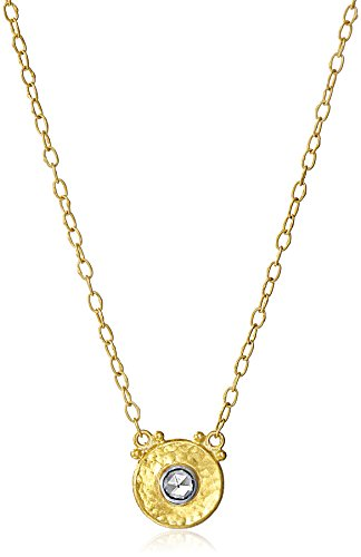 GURHAN Yellow Gold White Diamond Droplet Pendant Chain Necklace (Gurhan Yellow Necklace)
