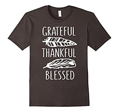 Grateful Thankful Blessed Funny Thanksgiving T-Shirt