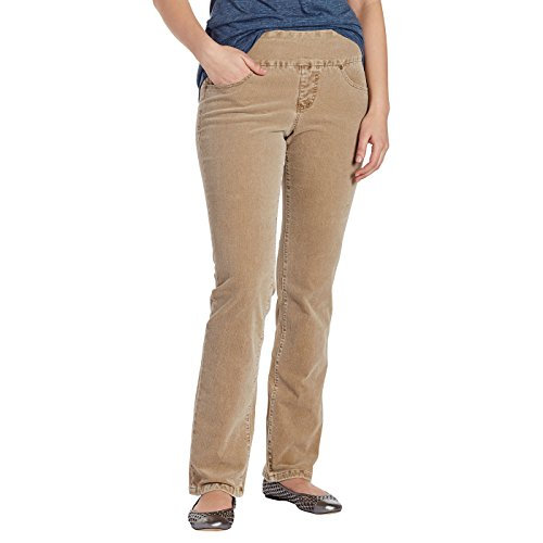 JAG Jeans Women's Peri Straight Jeans 18 - Apparel Brown Toffee